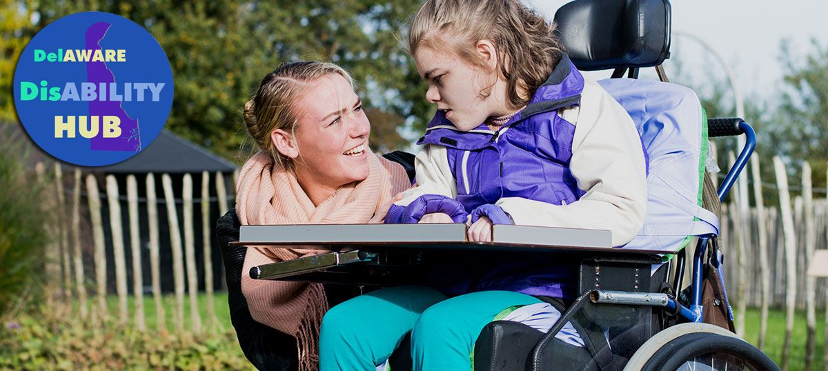 Picture of a Girl in a Wheelchair With Her Mother