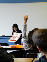 Picture of a child in class